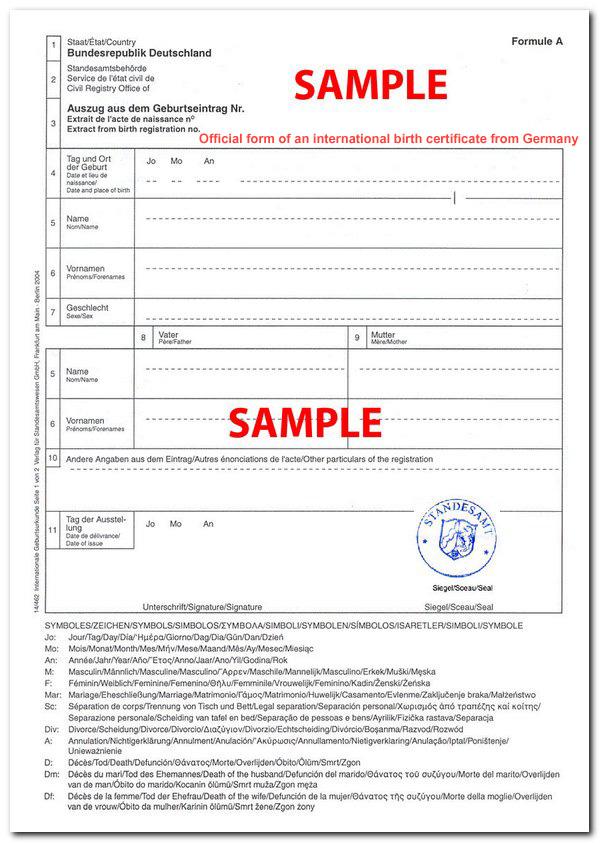 German Birth Certificates German Marriage Certificates Mandegarfo