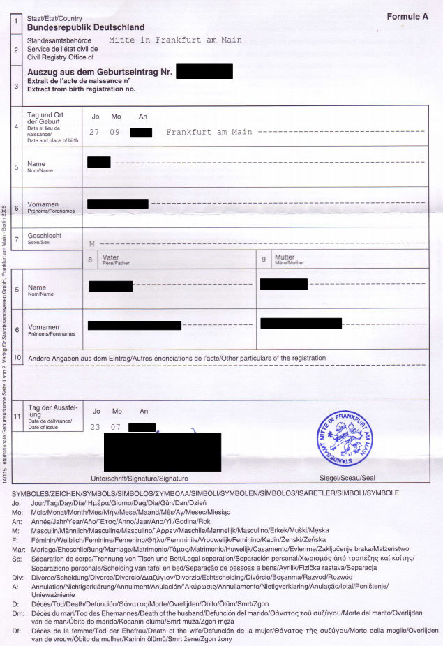 Order replacement official documents of birth from germany example of a form of international birth certificate from germany yadclub